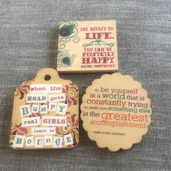 Urban Outfitters Set of 3 Inspirational Magnets